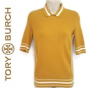 Tory Burch Ribbed Polo Sweater  Size xs